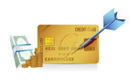 Credit card concept illustration design Stock Photography