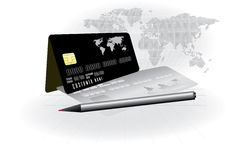 Credit card conceptual vector Royalty Free Stock Image