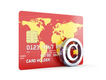 Credit card with copyright sign Royalty Free Stock Photo