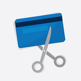 Credit Card Cut. Credit card being cut with scissors Stock Photo