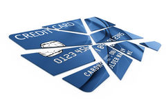 Credit card cut into pieces Stock Photo