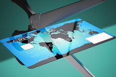 Credit card cutting. Stock Photography