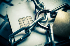 Credit card data protection Royalty Free Stock Photo