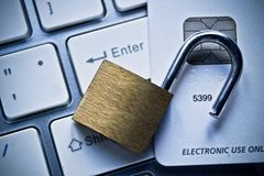 Credit card data security Stock Image