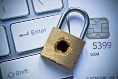 Credit card data security Stock Photos