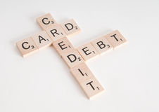 Credit Card Debt Concept Stock Photography