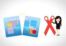 Credit Card Debt Concept Royalty Free Stock Photos
