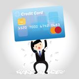 Credit Card Debt Concept Royalty Free Stock Images
