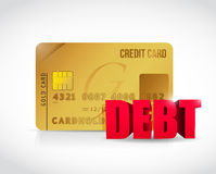 Credit card and debt concept illustration design. Over a white background Stock Photography