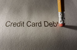 Credit card debt fix Stock Image