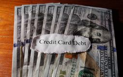 Credit card debt Royalty Free Stock Photography