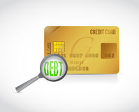 Credit card debt review concept Stock Images