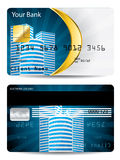Credit card design Royalty Free Stock Image