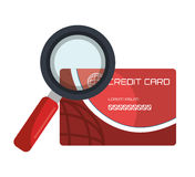 Credit card design. Illustration eps10 graphic Royalty Free Stock Photography