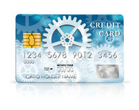 Credit card design template Stock Photo