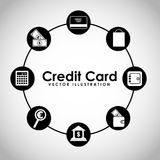 Credit card design. Vector illustration eps10 graphic Royalty Free Stock Photos