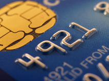 Credit card detail Stock Images