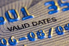 Credit Card. DetaiL Stock Photo