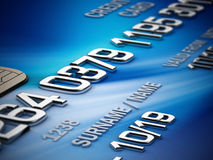 Credit card detail Royalty Free Stock Photo