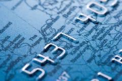 Credit card details. Macro shoot of a credit card Stock Image
