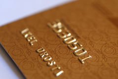 Credit Card Details Royalty Free Stock Photography