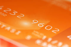 Credit card digits Stock Photography