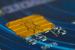 Credit card digits close-up. Stock Photos