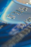 Credit card digits close-up. royalty free stock photo