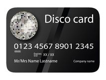 Credit card disco black Stock Photography