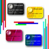 Credit card disco collection Stock Photography