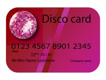 Credit card disco purple Stock Images