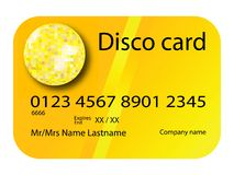 Credit card disco yellow Stock Photography