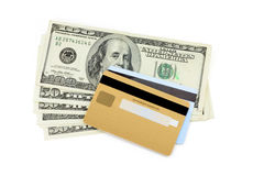 Credit card and dollar Royalty Free Stock Photo