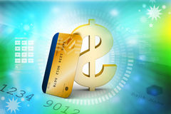 Credit card with dollar Royalty Free Stock Image