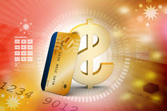 Credit card with dollar Royalty Free Stock Photos