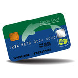 Credit card with dolphin silhouette Royalty Free Stock Images