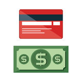 Credit card electronic commerce Royalty Free Stock Image