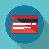 Credit card electronic commerce Stock Images