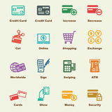 Credit card elements Royalty Free Stock Image