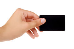 Credit card with empty space hand holding Stock Images