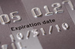 Credit Card Expiration Date Close-Up Stock Photos