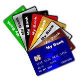 Credit Card Fan Royalty Free Stock Photos
