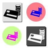 Credit card. flat vector icon stock illustration