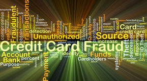 Credit card fraud background concept glowing Royalty Free Stock Photo