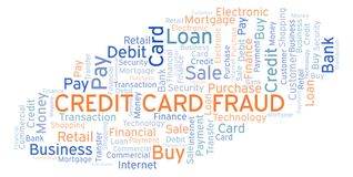 Credit Card Fraud word cloud. Wordcloud made with text only royalty free illustration