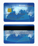 Credit card front and back side Stock Images