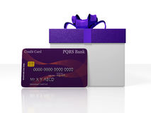 Credit Card and Gift Box Royalty Free Stock Images