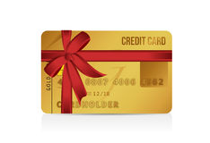 Credit card gift illustration design Stock Photos