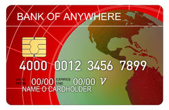 Credit card with globe Stock Photos