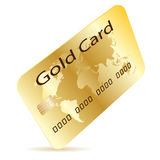 Credit Card Gold Stock Images